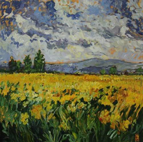 impressionism-oil-painting-daffodil